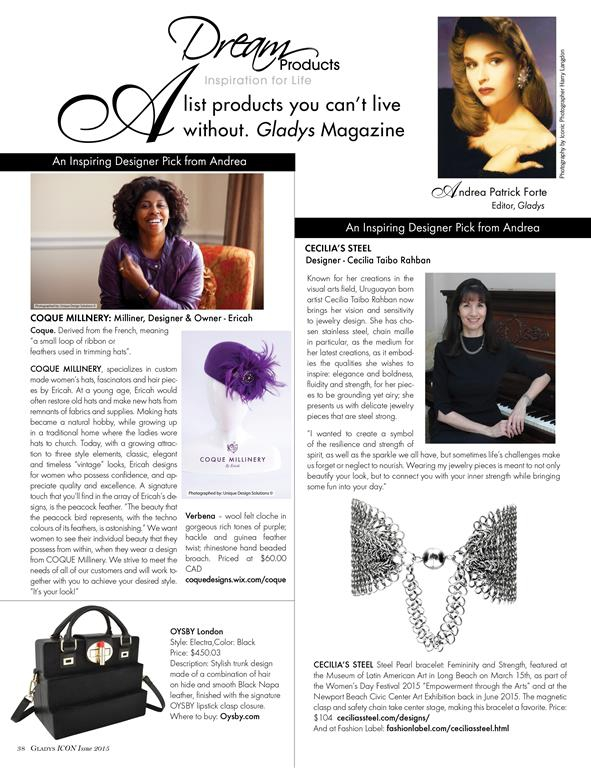 Gladys Magazine Cecilia's Steel A List